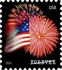 USPS Forever Stamps Star-Spangled Banner Roll of 100 (Fireworks) 1 roll NO TAX