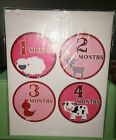 NIP MONTH STICKERS DIGITALDOODLEBUG 145 PINK CIRCLE LAMB GOAT CHICKEN COW