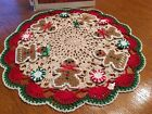 Brand New Hand Crocheted Gingerbread Men And Peppermint Candy Christmas In July