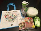 Weight Watchers Free Gift 6 Pieces Water Bottle Container Bag Meal Plan Book