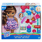 NEW 2017 Baby Alive CUTE HAIRSTYLES Brunette Brown Doll Drinks Wets  - Fast Ship