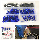 177Pcs Motorcycle Fairing Bolts Kit Fastener Clips Screw Bodywork Spring Nuts