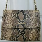 ELAINE TURNER Daphne Snake Skin Embossed Leather Crossbody Handbag