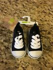 NEW Crazy8 Size 5 Black Tennis Shoes Sneakers with White Laces