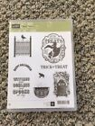 Stampin Up Toxic Treats NEW unmounted clear mount rubber stamp set Halloween