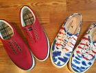 American Eagle Outfitters Lot 2 Canvas Lace Up Deck Shoes MensSz8 EUC Sneakers