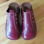 Naot Womens Stitched Red Leather Clogs NEVER WORN Size 38 US 7