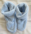 Baby Gap light blue sweater knit booties crib shoes 6 12 months
