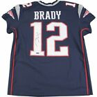 New England Patriots Tom Brady AUTOGRAPHED Authentic Blue Jersey MAN CAVE GIFT