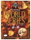 LEROY NEIMAN SIGNED 1993 WORLD SERIES PROGRAM BLUE JAYS & PHILLIES SCOREBOOK JSA