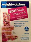 Weight Watchers Sprinkle Me Pink Mini Bars 12 bars 070 OZ