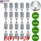 Lot 125W Eq LED Bulb 80 Chip Corn Light E26 5000lm 20W Cool Daylight 6000K EK