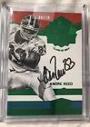 2016 PANINI PLATES & PATCHES CANTON HALL OF FAME GREEN ANDRE REED #9 10 AUTO