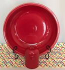 Fiestaware Scarlet Pasta Bowl and Cheese Shaker Set Fiesta Serving Set