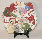 Fitz & Floyd Holiday Elf 9 Inch Canape/Cookie Plate