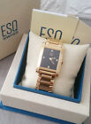 Swiss ESQ by MOVADO Gold Plated Rectangular Unisex Watch E5342
