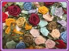 100 Satin Ribbon Rose Flower 3 4 Applique Sewing Bow Craft Mix Color 207 4