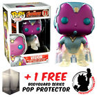 FUNKO POP MARVEL AVENGERS AGE ULTRON VISION FADED EXCLUSIVE + FREE POP PROTECTOR