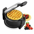 Waffle Maker Stainless Steel Fast Easy Flipping Automatic Double-sided Heating