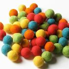 WOOL FELT BALLS FIESTA COLLECTION 60 Pieces 1cm in Size From Handbehg Felts NEW