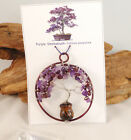 Purple Smokebush Gemstone Mini Bonsai Potted Tree of Life Nature Art 3