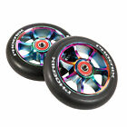 Phoenix F7 Alloy Pro Scooter Wheel 110mm with ABEC 9 Bearings Set Neo Chrome