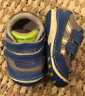 Stride Rite Infant Baby Boy Size 3 Wide Blue Shoes Sneakers Straps