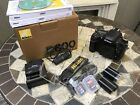 Nikon D600 243MP Digital SLR Camera Black ONLY 3700 CLICKS body and extras