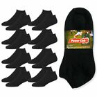 8 Pair Men Cushioned Sport Socks No Show Crew Athletic Basketball Size 9 11 BLK