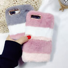 Winter Warm Soft Fluffy Faux Rabbit Fur Phone Cover Case For iPhone 6s 7 8 Plus