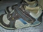 Toddler Boy Stride Right Sneakers brown and blue leather Size 65