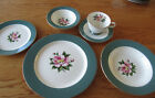 6 pc place setting, Homer Laughlin Century Empire Green, very nice vintage