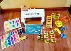 Vintage Fisher Price Little People Play Family School House 923 w Bus CLEAN