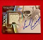 2010 Exquisite Earl Campbell 'Retro Rookie' Auto Jersey Patch #02 03 Very Rare