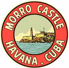 Morro Castle - Havana Cuba   Habana   Vintage-Style 1950's Travel Decal-Sticker