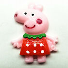 5pcs Red Cute Pigs Embellished Resins Flat Back Scrapbook Cell Phone Crafts8
