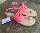 NWT Childrens Place Sandals Size 11 Toddler Girls Coral Fringe Shoes