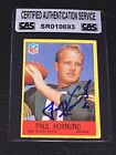 Top 10 Paul Hornung Football Cards 20