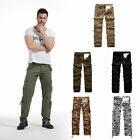 Military Mens Cotton Cargo Pants Combat Camouflage Camo Army Style Trousers