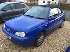LARGER PHOTOS: 2000 Volkswagen Golf Cabriolet Avantgarde 2.0 Blue