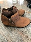 Madden Girl Kest Ankle Boot Faux Suede Cognac Brown Toddler Size 12