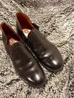 MENS VINTAGE BROWN SLIP ON SEARS MADE IN SPAIN CUSHIONED ROMEO DRESS SHOE 9 1 2