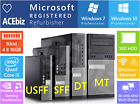Dell optiplex 7010 9010 MT DT SFF USFF Business Desktop Core i5 i7 SSD HDD