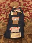 VINTAGE LOT OF 3 DEADSTOCK LEVIS 501 JEANS 1987 POST REDLINE BIG E 32 30