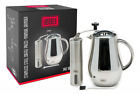 French Press Coffee Maker  Burr Grinder Bundle Stainless Steel Double Walled B