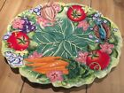 Fitz and Floyd Classic Country Chic Hand Painted Animal Vegetable Platter 17x14
