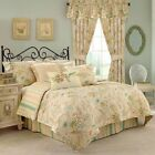 Waverly CAPE CORAL 5 Piece King Quilt Set &Boudoir Pillow Brand New