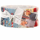 Moda Jelly Roll Anns Arbor 40 25Cotton Quilting Fabric 14840JR