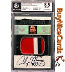 2003-04 Alonzo Mourning Exquisite Limited Logos Game Worn Patch Auto 75 BGS 8.5