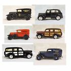 Ertl Diecast Model Car Lot of SIX- 1:43 Scale- Delivery Trucks, Sheriff Car, Lon